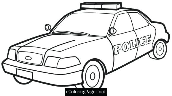 65 Police Car Coloring Pages Game  Images