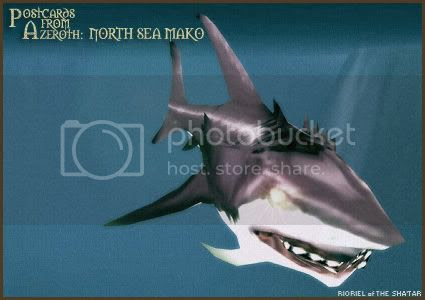 Postcards from Azeroth: North Sea Mako, by Rioriel Whitefeather