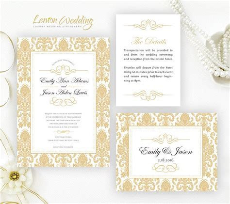 Damask wedding invitation kits Cheap wedding invitations