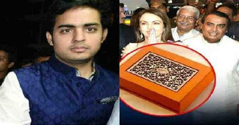 Mukesh Ambani?s Son Akash Ambani?s Wedding Card Price Is
