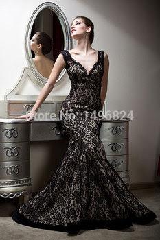 Long black evening dress ebay