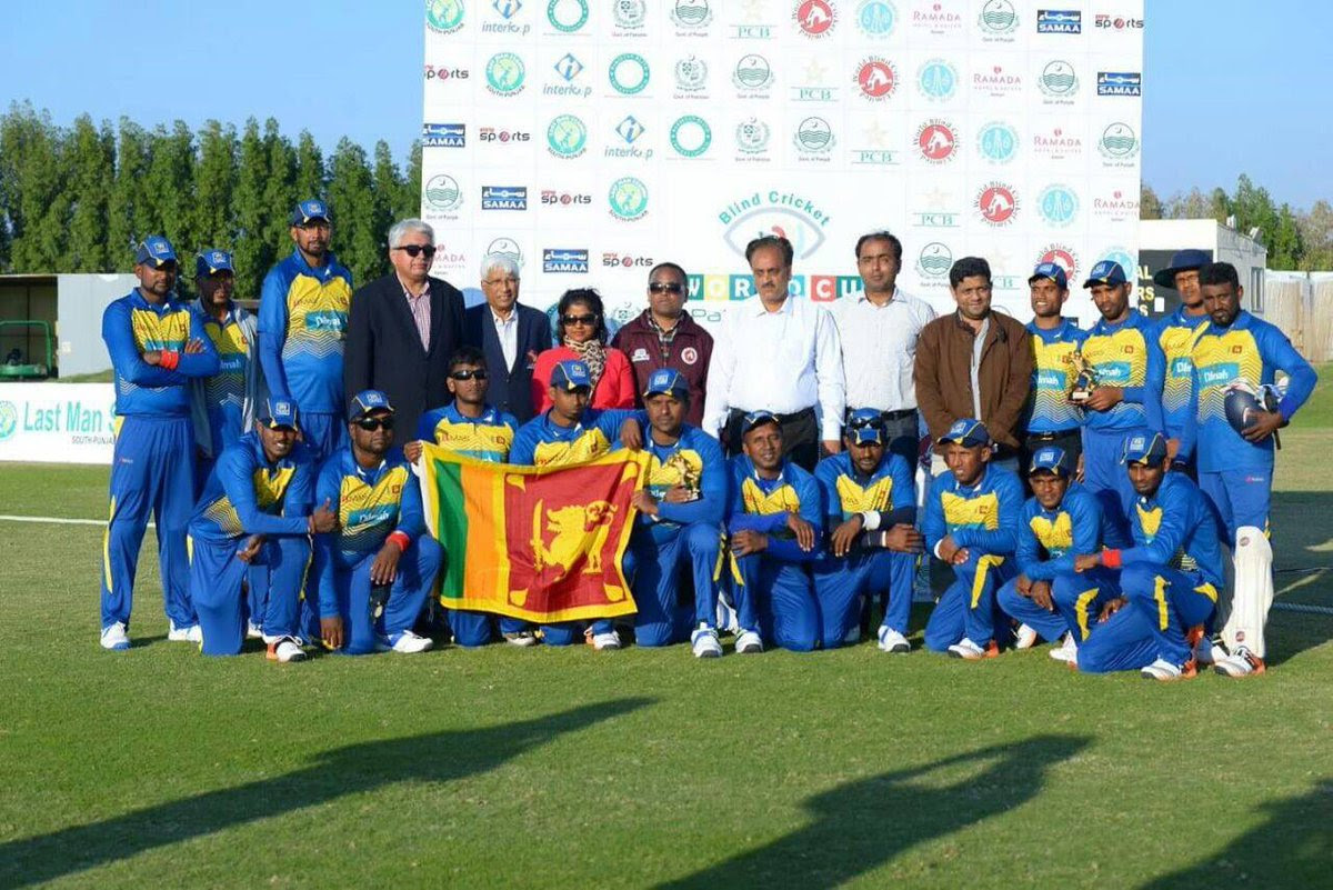 Sri Lankan Blind Cricket team wins third place