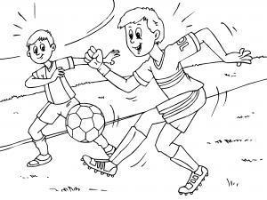 Colorear Ninos Jugando Al Futbol Dibujos De Deportes Para Colorear