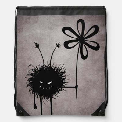 Evil Flower Bug Vintage Drawstring Backpack