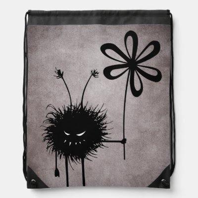 Evil Flower Bug Vintage Drawstring Backpack