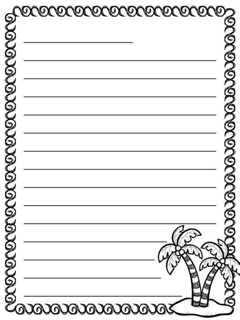 pretty letter writing paper kittybabylove  blank