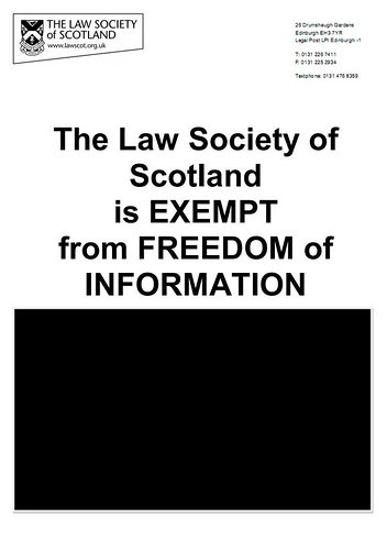 Law Society exempt FOI