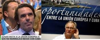 La Unión Europea dobló al fin la rodilla ante Cuba: recordando al criminal José María Aznar