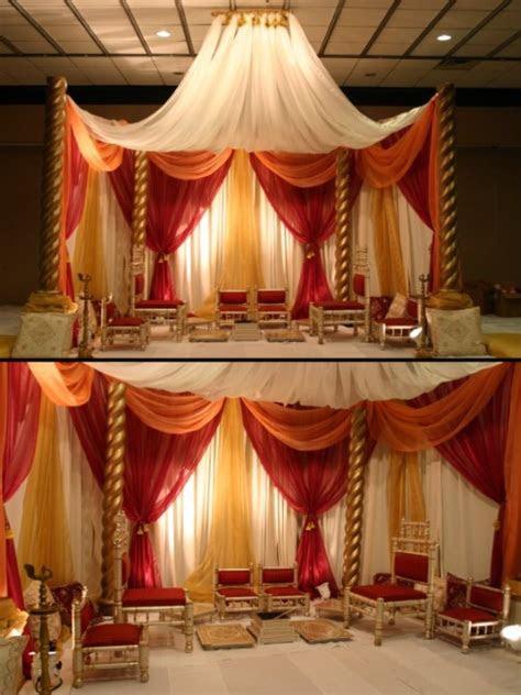 indian wedding indoor mandap post