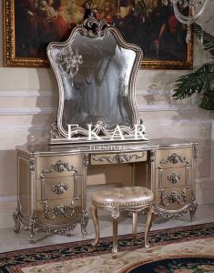 Classic Carved Dresser With Drawer Makeup Vintage Vanity Dressing