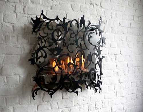 Unique Wall Mount Fireplace Decorating Ideas with gothic like ...