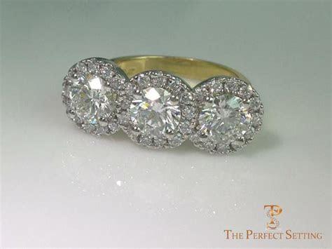diamond halo setting  perfect setting