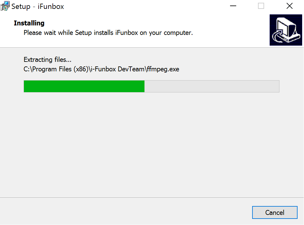iFunbox Installing Progress Bar