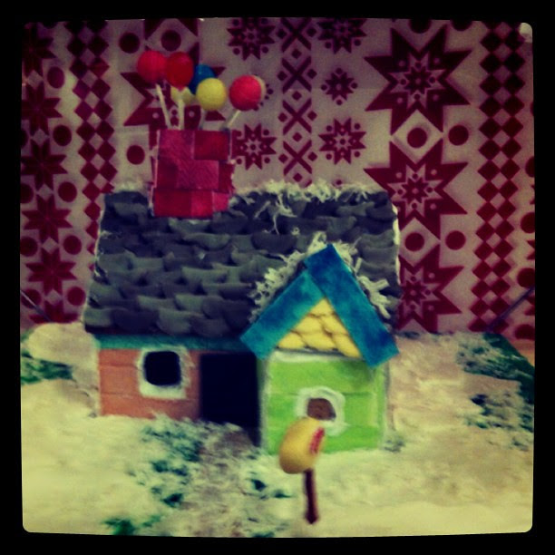 The house from Up gingerbread style (Ikea)