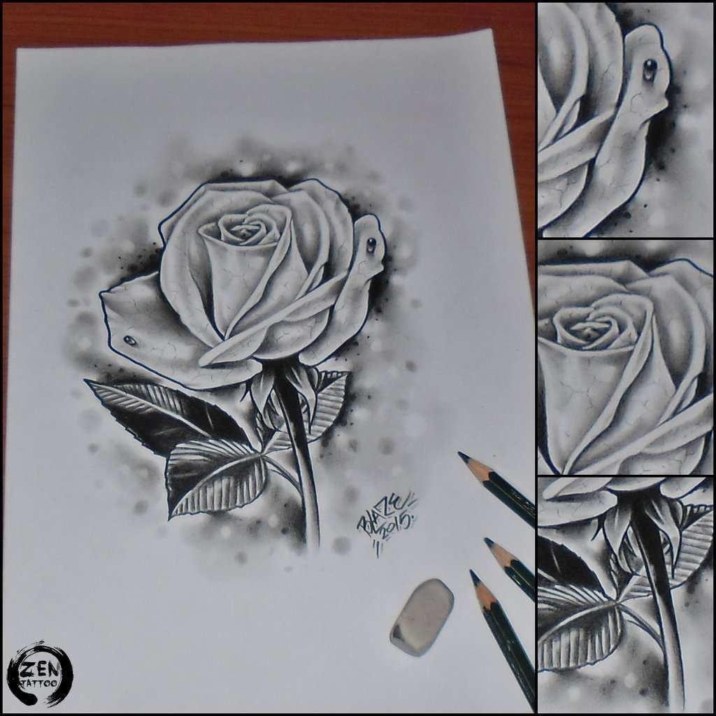 Gambar Arsiran Bunga 3d