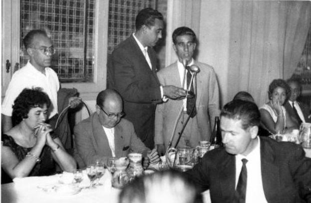 Banquete en la celebración del Tour ganado por Bahamontes en 1959