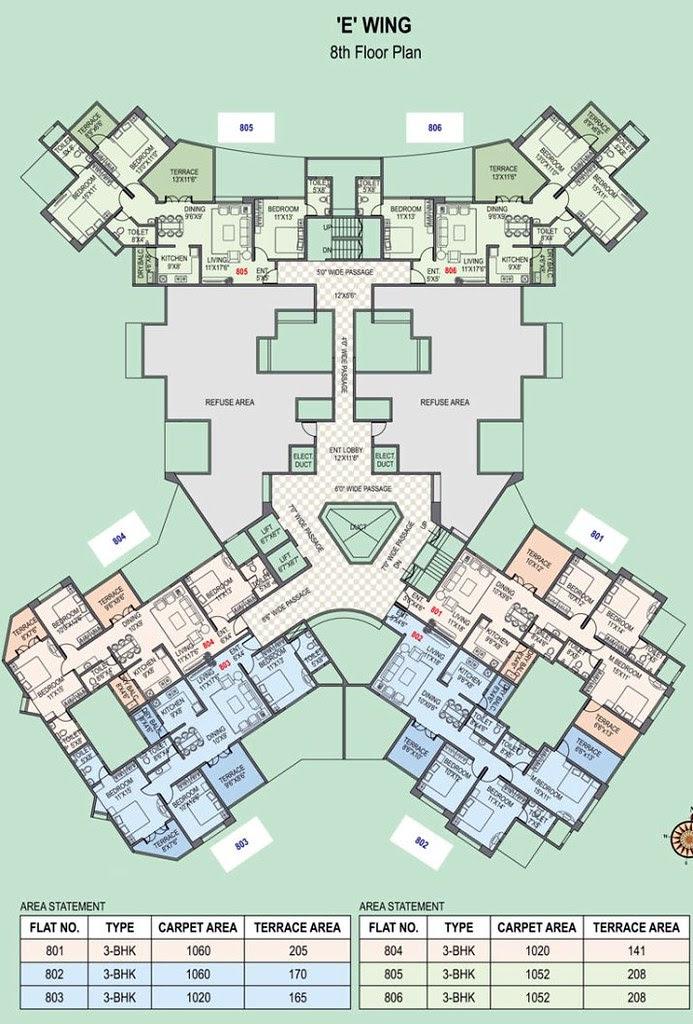 Paranjape Schemes' Gloria Grace Bavdhan Pune - E Wing - 8th Floor