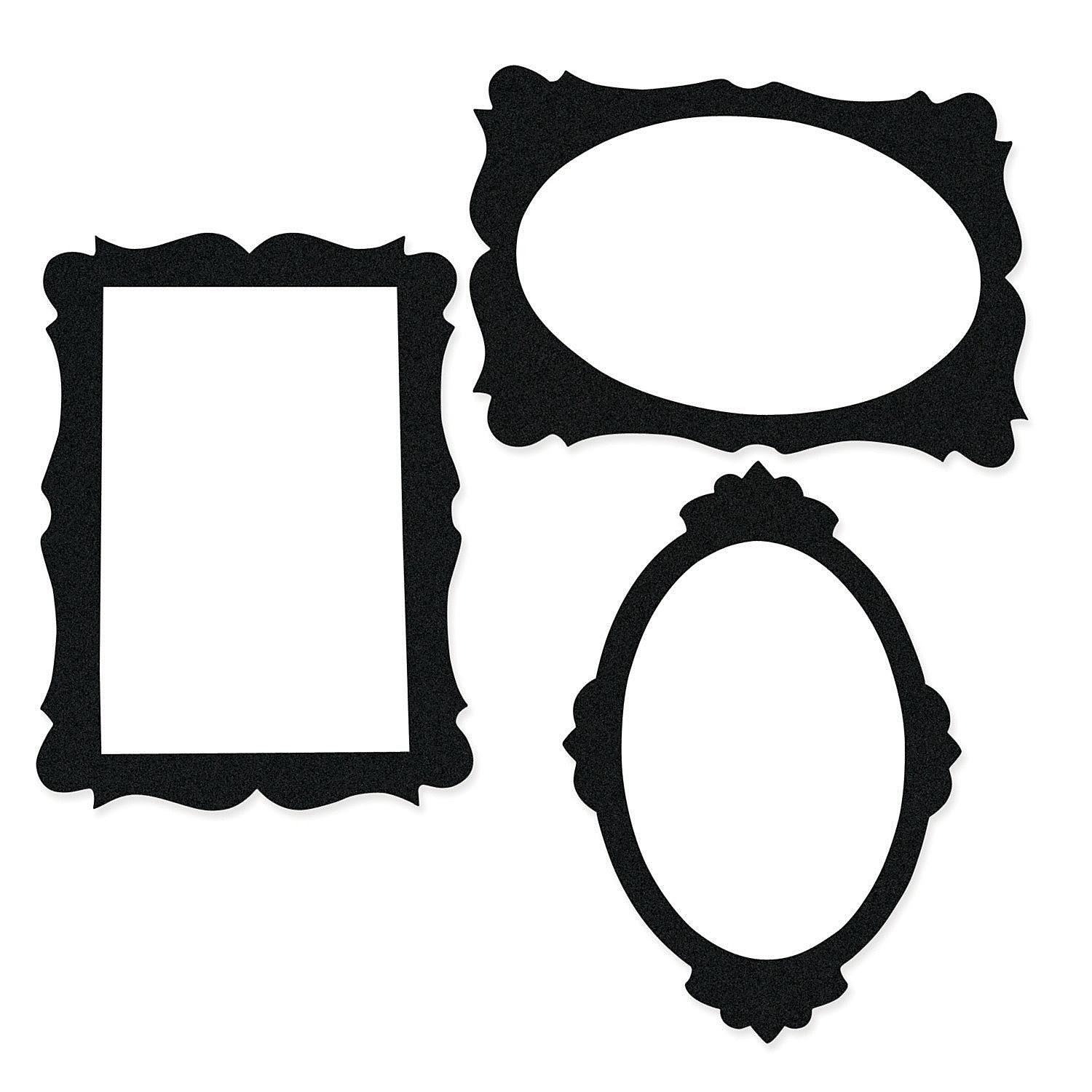 Black Giant 24 Picture Frame Cutouts 3pk Party Supplies Canada