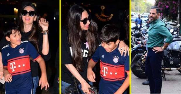 Karisma Kapoor and Ex Husband gathered together for the birthday bash of their son Kiaan