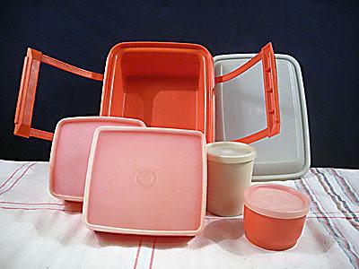 Red Tupperware Pak-N-Carry Lunchbox