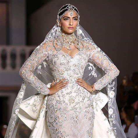 Sonam Kapoor in Ralph & Russo Wedding Dress at Couture PFW