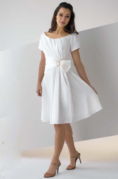 Simple white evening dress