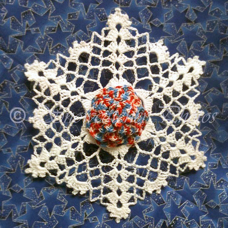Reversible Patriotic Dahlia Snowflake