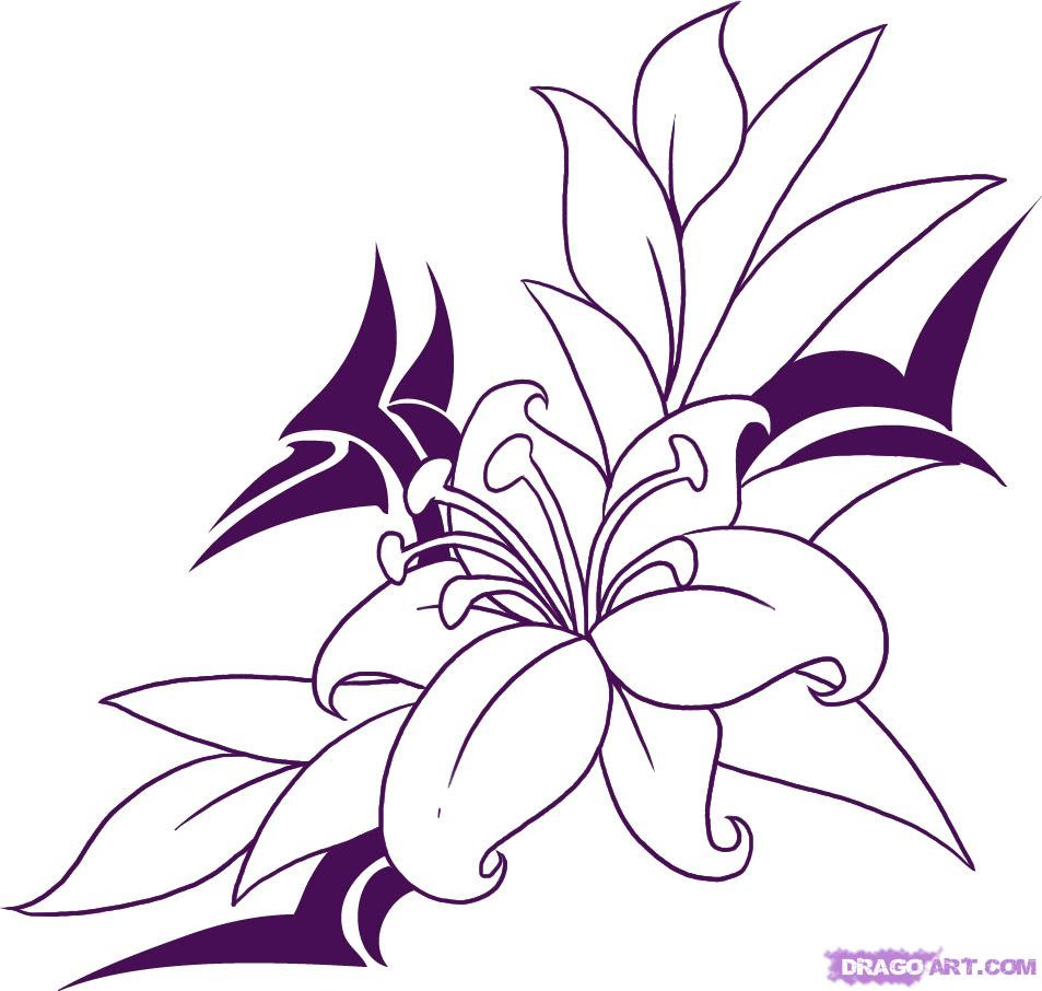 Free Drawing Flowers Download Free Clip Art Free Clip Art On Clipart Library