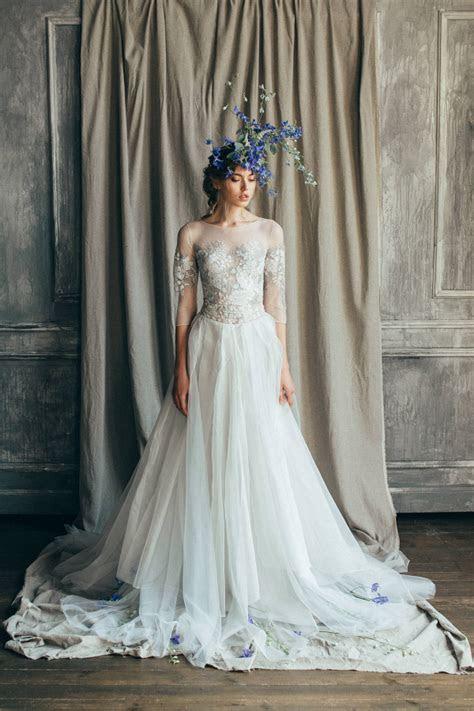 'Emilia' Organza Open Back Wedding Gown   Aisle Society