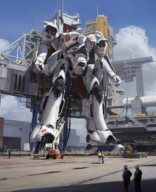 21 - large robot being constructed