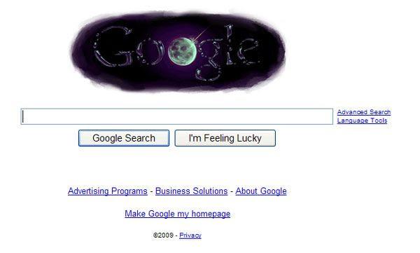 A screenshot of the lunar 'Google doodle'.