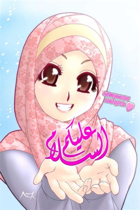 gambar kartun muslimah ii  manusia akhir zaman