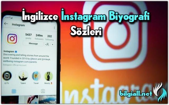 ingilizce instagram biyografi ornekleri