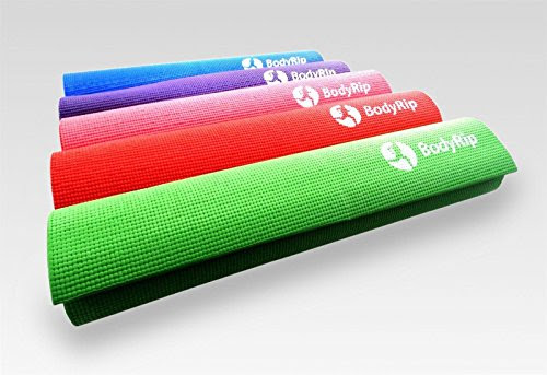 BodyRip Padded Yoga Aerobic Exercise Training Mats 173cm x 61cm x 0.6cm (Purple)