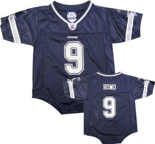 dallas cowboys baby clothes: Tony Romo Reebok NFL Navy Dallas Cowboys Infant Jersey  18 months
