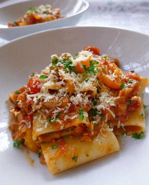 Paccheri with Salmon & Tomatoes