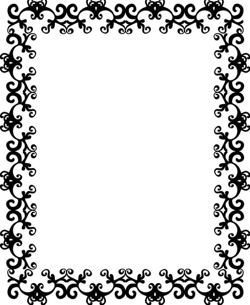 Free Border Design Black And White Download Free Clip Art Free