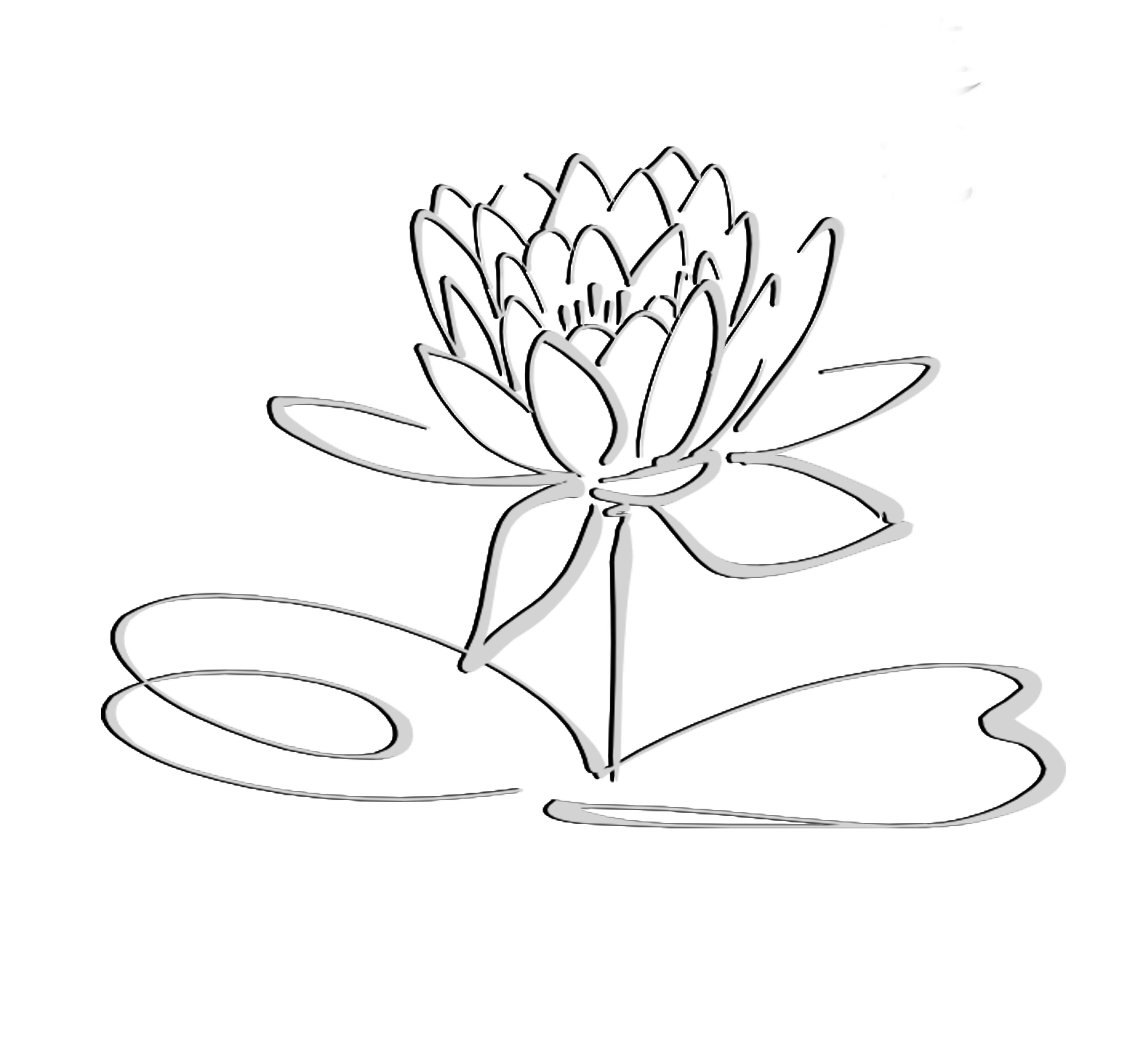 Lotus Logo Black Grayshadow Flower Only Free Images At Clkercom