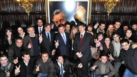 Amado Boudou en agosto de 2011 cuando era ministro de Economía con el presidente de Colombia Juan Manuel Santos en la Casa Pte. NCK.