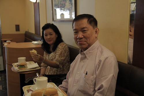 Mom and Dad at Doutor Coffee