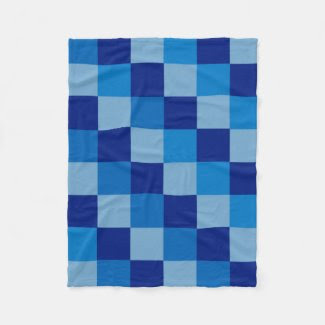 Blue Checked Fleece Blanket