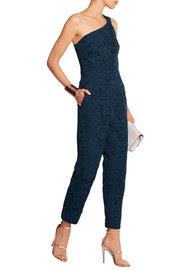 Collection one-shoulder guipure lace jumpsuit