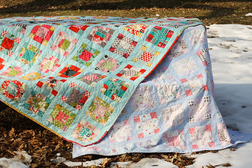 Vintage Nine-Patch Quilt by jenib320
