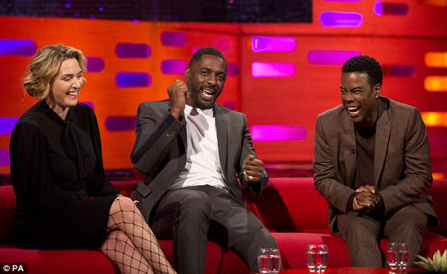 Honest: Luthor actor Idris, 45, confirmed Kate's anecdote as he bashfully admitted he 'has a thing for feet', during an appearance on The Graham Norton Show which will air on Friday