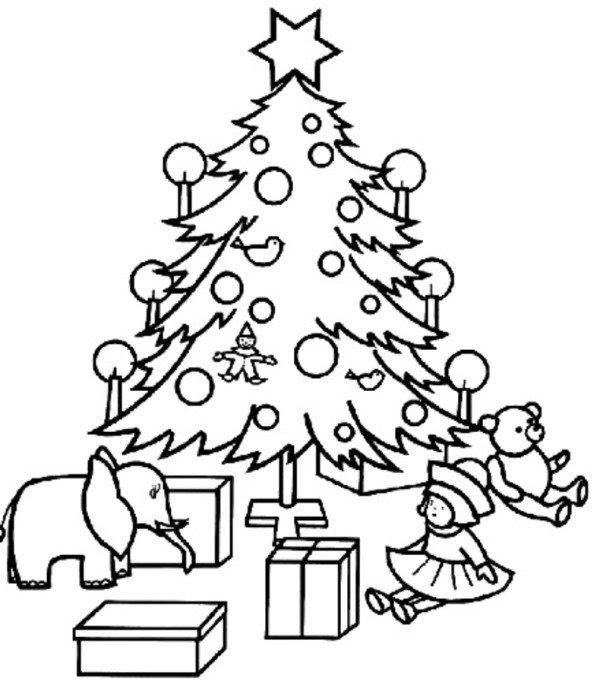 990 Free Coloring Sheets Christmas Tree , Free HD Download