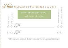 Image result for rsvp wording no plus one   My Happily