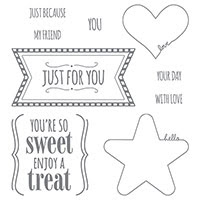 You're So Sweet Wood-Mount Stamp Set