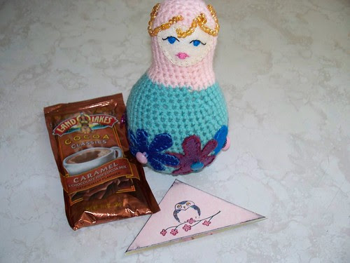 Crocheted matroyska doll