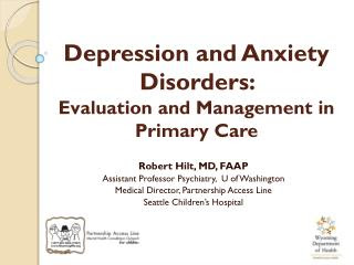 PPT - Depression Anxiety Finding Comfort with Management ...