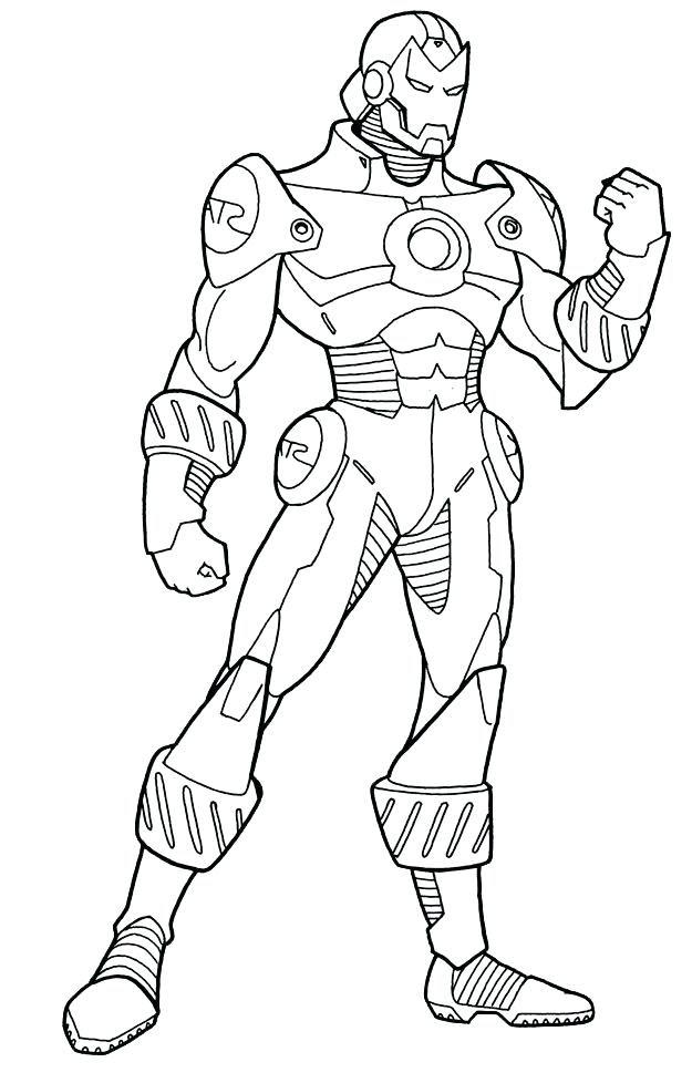 Iron Man Line Drawing at GetDrawings | Free download
